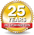 25 years in Lymington